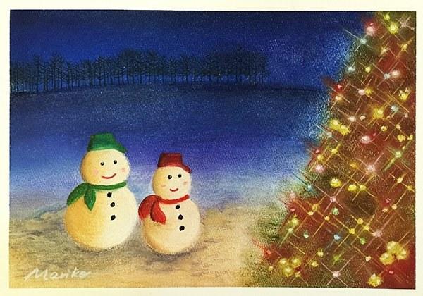 パステル画 クリスマス.jpg
